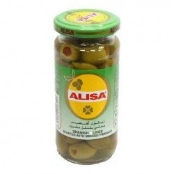 alisa green olives stuffed with minced pimiento 445 g