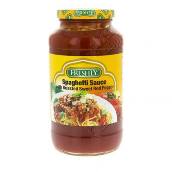 freshly  spaghetti sauce with roasted sweet red pepper 680 g