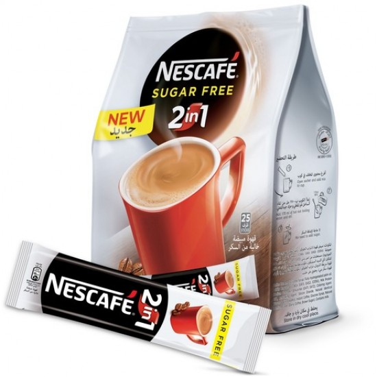 nestle nescafe 2 in 1 suger free smooth & rich 117 g